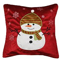 Spencer Home Decor Holiday Snowman in Snow Throw Pillow