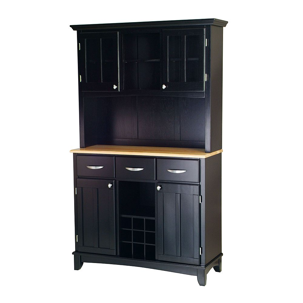 Large Hutch Buffet - Natural Wood Top