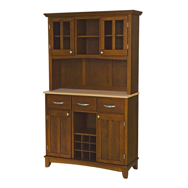Home Styles Buffet with Wood Top and Hutch