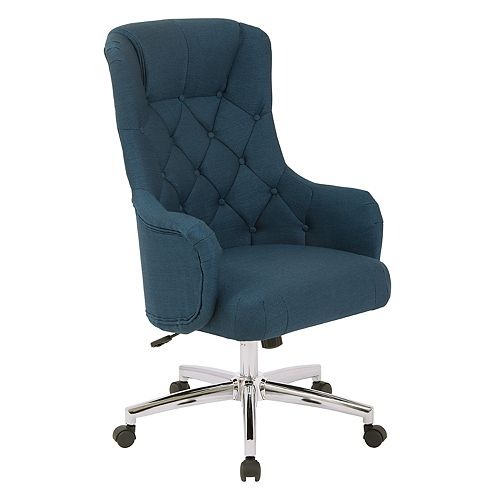Ave Six Ariel Tufted Upholstered Desk Chair