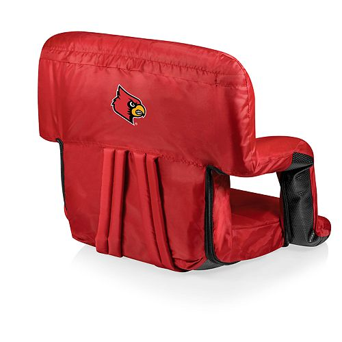 Picnic Time Louisville Cardinals Ventura Portable Recliner Chair