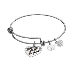 love this life 'Heart Of Our Family' Marcasite Bangle Bracelet