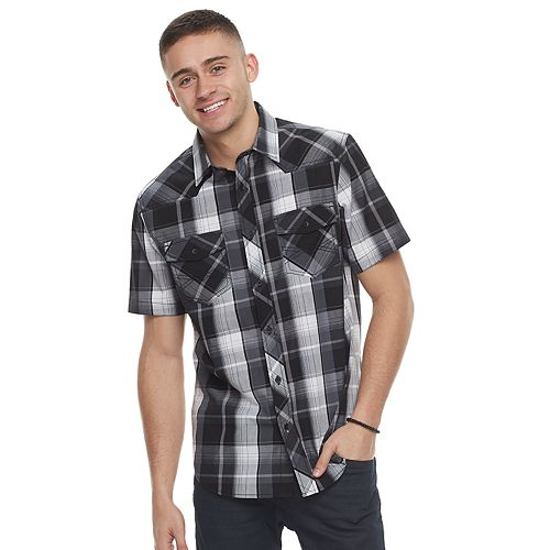 Men's Rock & Republic Plaid Button-Down Shirt