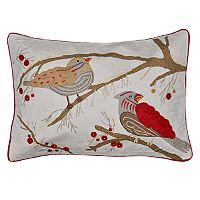 Spencer Home Decor Holiday Feathered Friends Oblong Throw Pillow