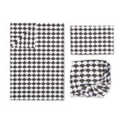 Lolli Living 3 pc Black Scalloped Toddler Sheet Set