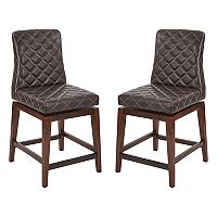 OSP Designs Emelie Swivel Counter Stool 2-piece Set