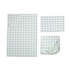 Lolli Living 3 pc Mint Scalloped Toddler Sheet Set