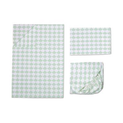 Lolli Living 3-pc. Mint Scalloped Toddler Sheet Set