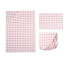 Lolli Living 3 pc Pink Scalloped Toddler Sheet Set