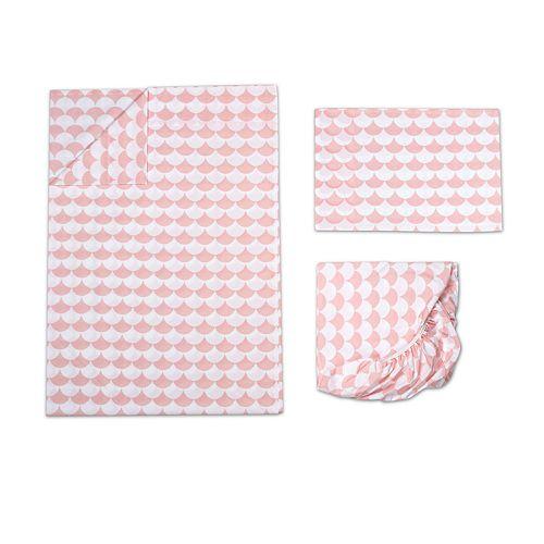 Lolli Living 3-pc. Pink Scalloped Toddler Sheet Set