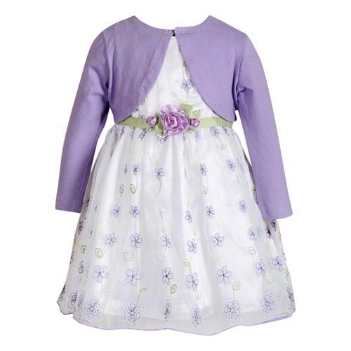Baby Girl Youngland Floral Dress & Shrug Set