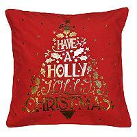 Spencer Home Decor Holiday Christmas Word Tree Throw Pillow