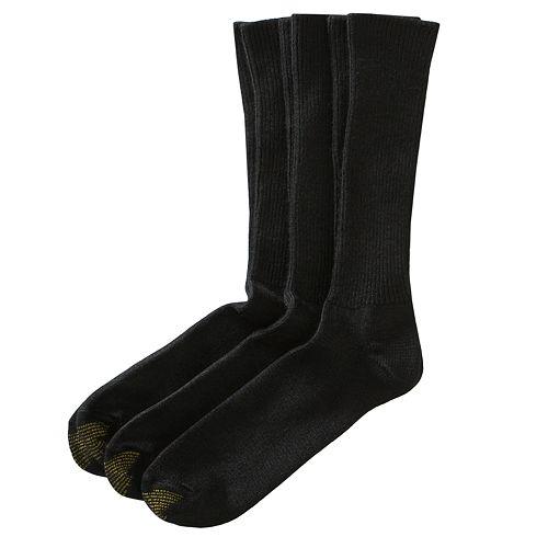 Extended Size GOLDTOE 3-pk. Fluffies Crew Socks