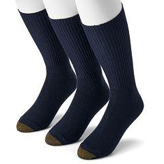 Extended Size GOLDTOE 3 pkFluffies Crew Socks