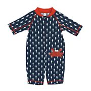 Baby Boy Kiko & Max Seahorse & Crab One-Piece Rashguard Swimsuit