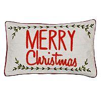 Spencer Home Decor Holiday ''Merry Christmas'' Vine Oblong Throw Pillow