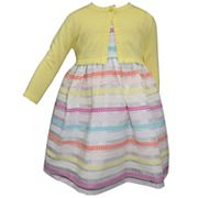 Baby Girl Blueberi Boulevard Striped Dress & Cardigan Set