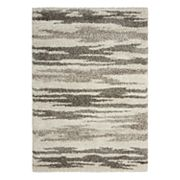 Nourison Amore Abstract Striped Shag Rug