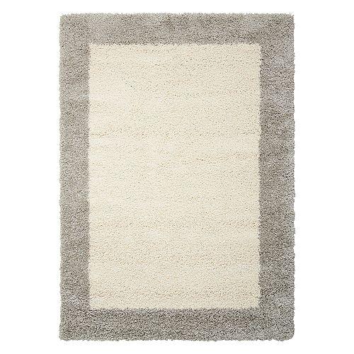 Nourison Amore Framed Solid Shag Rug