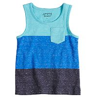 Toddler Boy Jumping Beans® Colorblock Pocket Tank Top