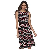 Women's ELLE™ Floral Pleated Fit & Flare Dress