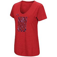 Women's Under Armour Washington Nationals Heat Gear Streak Tee