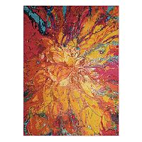 Nourison Celestial Cayenne Abstract Rug
