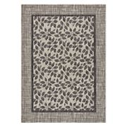 Nourison Garden Party Framed Leaf Indoor Outdoor Rug