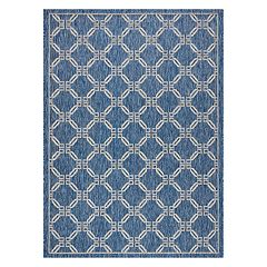 Nourison Garden Party Framed Lattice Indoor Outdoor Rug