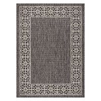 Nourison Garden Party Medallion Framed Indoor Outdoor Rug