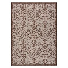 Nourison Garden Party Scroll Indoor Outdoor Rug