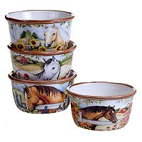 Certified International Heartland 4 pc Ice Cream Bowl Set