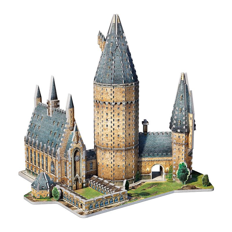 Wrebbit Harry Potter Hogwarts Great Hall 3D 850-pc. Puzzle The whole family will love putting together this Wrebbit Harry Potter Hogwarts Great Hall 3D 850-pc. Puzzle Stunning replica of part of Harry Potter's School of Witchcraft and Wizardry Original Wrebbit foam backed puzzle pieces providing snug tight fitting Creates a robust and durable model 850 pieces 18.5''H x 9.75''W x 15.25''D Age: 14 years & up Non-toxic polyethylene foam with illustrated laminated paper Imported Model no. 189310 Size: One Size. Color: Multicolor. Gender: unisex. Age Group: kids.