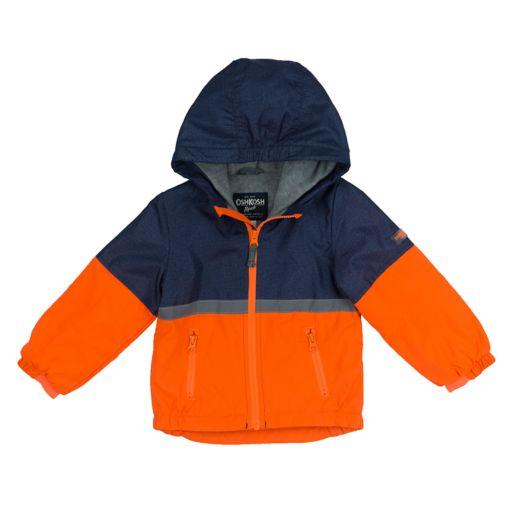 Baby Boy OshKosh B'gosh® Fleece-Lined Color-Blocked Orange Transitional Lightweight Jacket