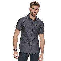 Men's Rock & Republic Chambray Button-Front Shirt