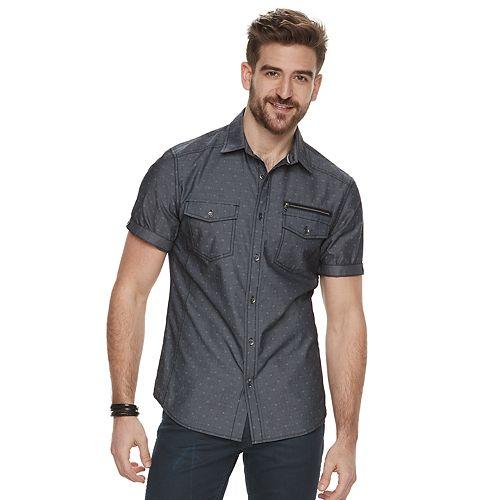 Men's Rock & Republic Chambray Button-Front Shirt