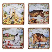 Certified International Heartland 4 pc Canape Plate Set