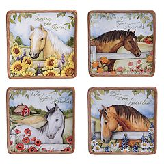 Certified International Heartland 4-pc. Canape Plate Set