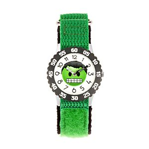 Marvel Hulk Emoji Kids' Time Teacher Watch