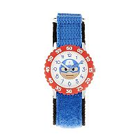 Marvel Captain America Emoji Kids' Time Teacher Watch