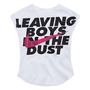 Toddler Girl Nike 'Leaving Boys in the Dust' Graphic Tee