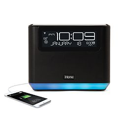 iHome Bedside Clock Bluetooth Wireless Speaker