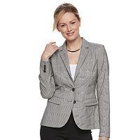 Women's Apt. 9® Plaid Twill Blazer