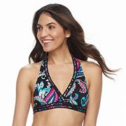 Women's Apt. 9® Printed Triangle Halter Bikini Top