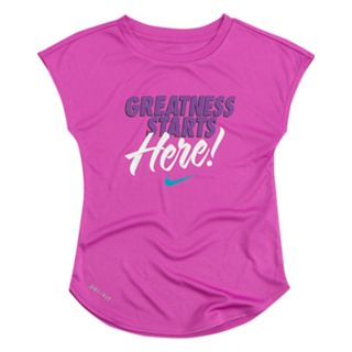 """Toddler Girl Nike """"Greatness Starts Here"""" Dri-FIT Tee"""