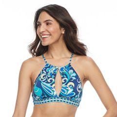 Women's Apt. 9® Printed High-Neck Halter Bikini Top
