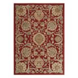 Nourison Graphic Illusions Scenic Framed Floral Rug