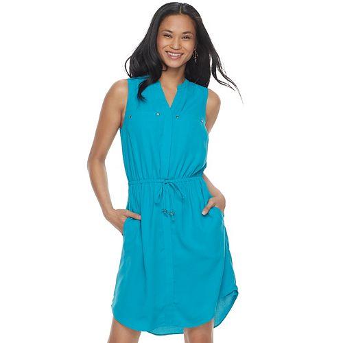 Women's Apt. 9® Drawstring Shirtdress