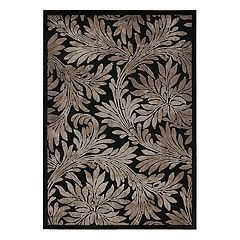 Nourison Graphic Illusions Leaves Rug