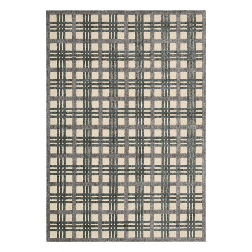 Nourison Graphic Illusions Quilted Plaid Rug